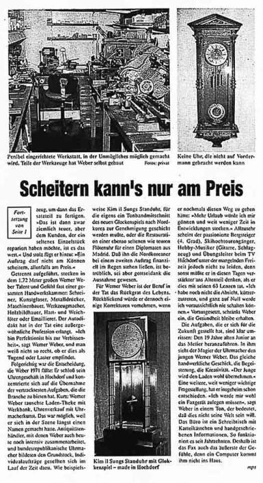 Pressebericht 'Ein Magier an der Unruh' 2. Teil